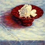 Gardenia in a Red Bowl