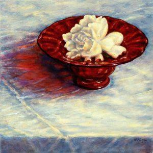 Gardenia in a Red Bowl