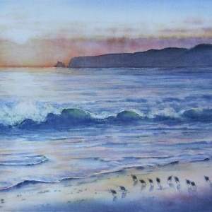 Sandpipers at Sunset