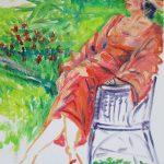 Farrah in the Garden