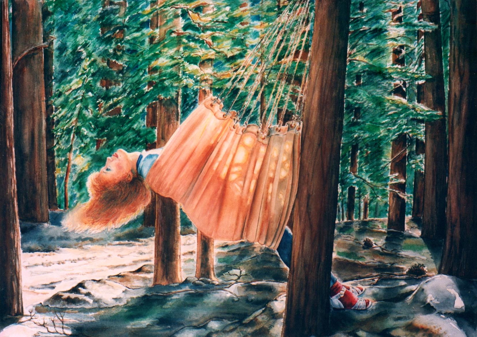 Sarah in a Hammock