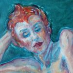 Red on Teal (detail)